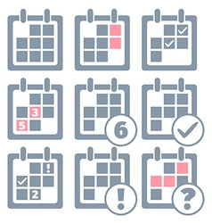 Calendar infographics set design templates vector image