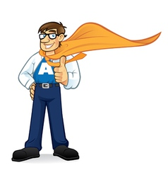 Cartoon superhero geeks vector