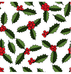 Christmas mistletoe plant vector