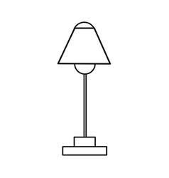 desk lamp electric bulb light equipment vector image vector image