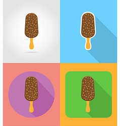fast food flat icons 07 vector image vector image