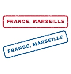 France Marseille Rubber Stamps vector image