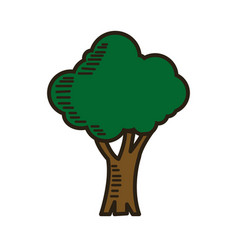 Green tree cartoon ecology environment natural vector