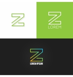 letter Z logo alphabet design icon set background vector image
