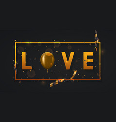 Modern valentines day or love poster vector