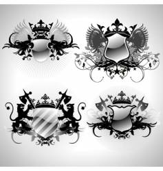 ornamental shields vector image vector image