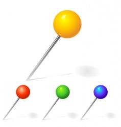 Pins and hammer vector
