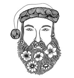 Santa claus head vector