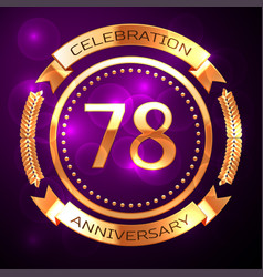 seventy eight years anniversary celebration with vector image vector image