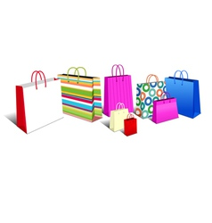 Shopping Bags MODERN vector image vector image