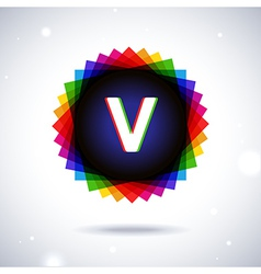 Spectrum logo icon letter v vector