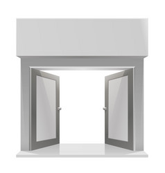 The door to the store on a white background vector