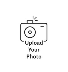 thin line black camera logo like upload your photo vector image