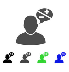 User arguments flat icon vector
