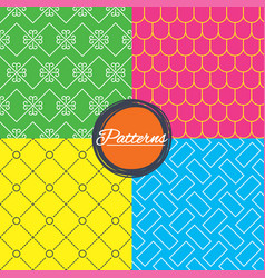 vintage ornament and rood tile textures vector image vector image