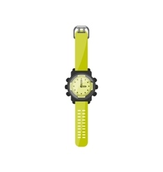 Watch in a flat style Clock and time vector image vector image
