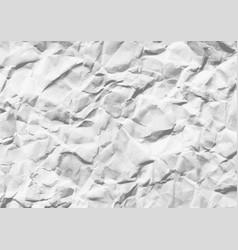 Wrinkled white horizontal paper vector