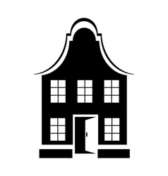 Two-storey house icon simple style vector