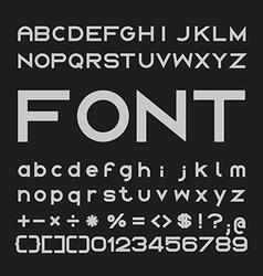 Bold font desgin alphabet and numbers vector