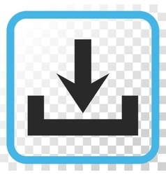 Downloads icon in a frame vector