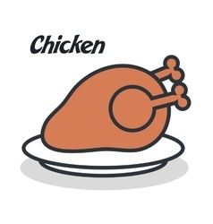 delicious chicken isolated i vector image