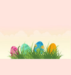 Collection stock of easter egg landscape vector