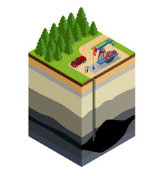 Oil drilling exploration concept engineer writing vector