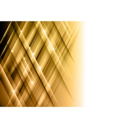 Abstract lines gold cross vector