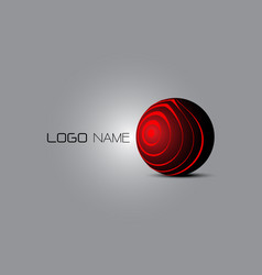 3d logo abstract vector