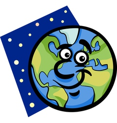 Funny earth planet cartoon vector
