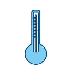 Isolated temperature thermometer vector