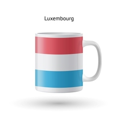 Luxembourg flag souvenir mug on white background vector