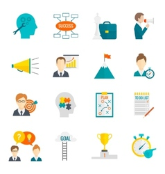 Coaching business icon flat vector