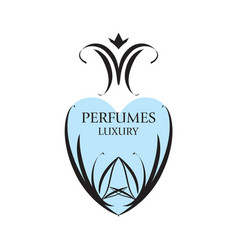 Abstract logo with patterns for perfumery vector