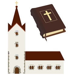 Church and bible vector