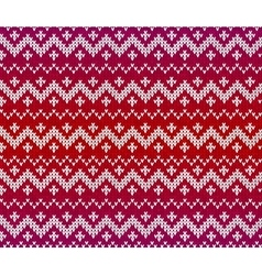 Red knitted ornament seamless pattern vector