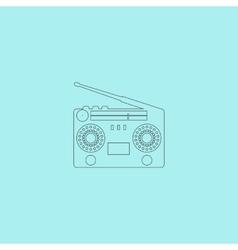Classic 80s boombox vector image