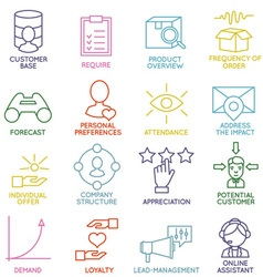 Customer relationship management icons - part 2 vector