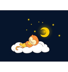 Cat sleeping vector