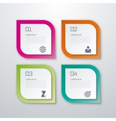 Paper squares infographics vector