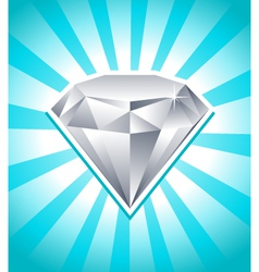 Shiny diamond vector