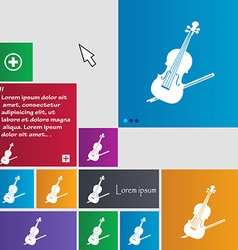 Violin icon sign buttons modern interface website vector