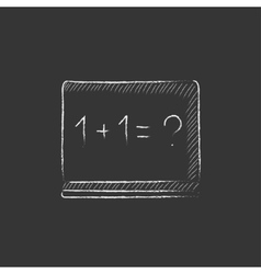 Maths example written on blackboard drawn in vector