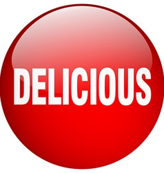 Delicious red round gel isolated push button vector