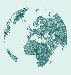 Earth sketch vector
