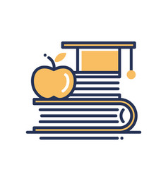 Education - modern single line icon vector