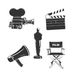 elements for retro cinema vector image vector image