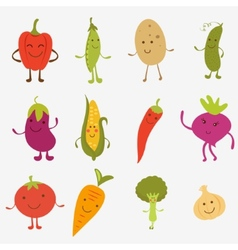 Happy farm vegetables vector image vector image