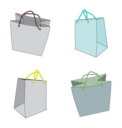 image of shopping bags vector image