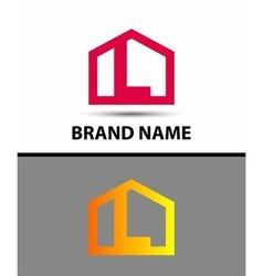 Letter L logo real estate symbol vector image vector image